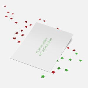 Designly kerstkaart (folie) - Christmas wishes and Mistletoe kisses