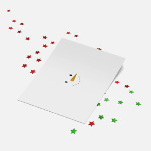Designly kerstkaart (folie) - Sneeuwpop