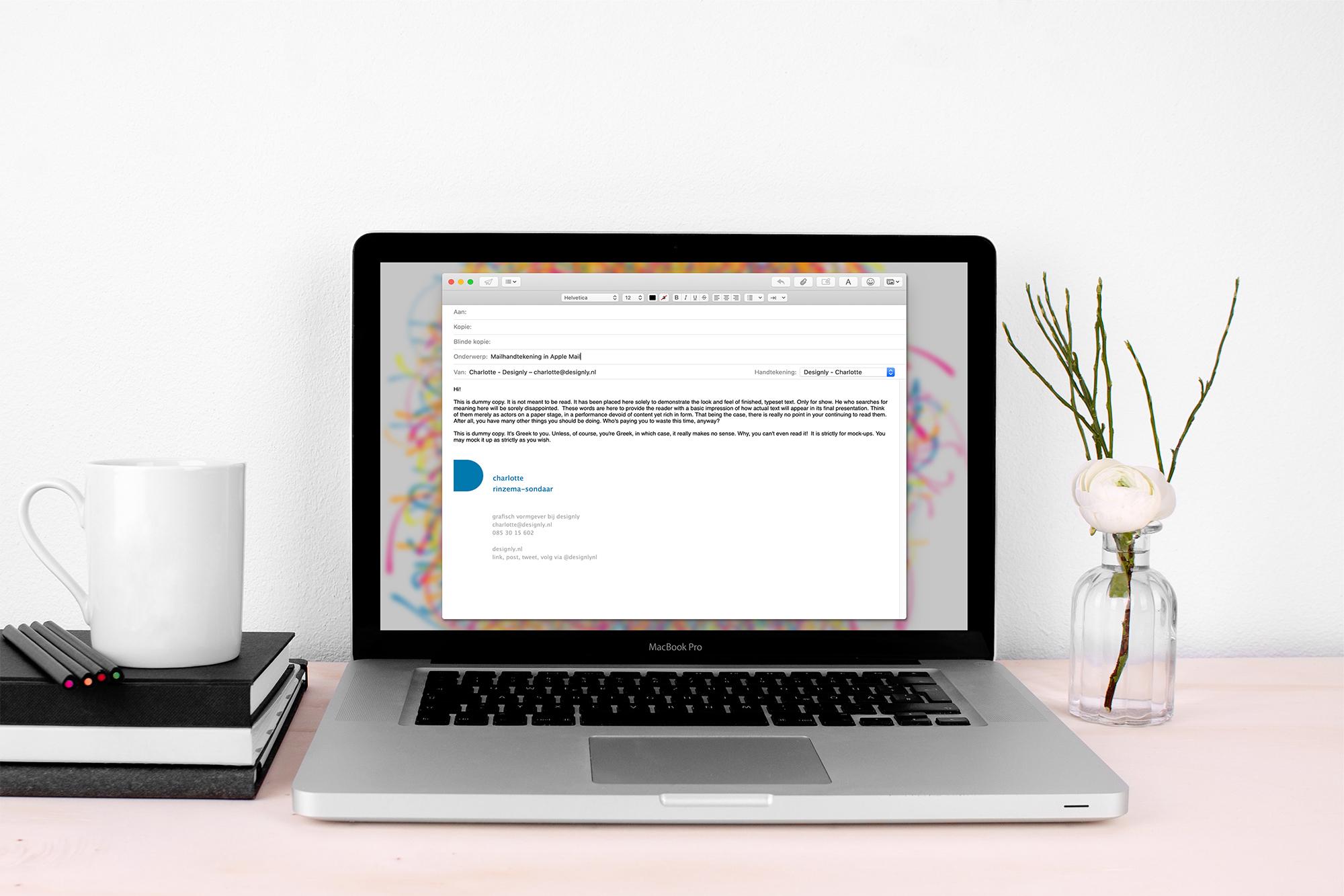 Mailhandtekening in Apple Mail